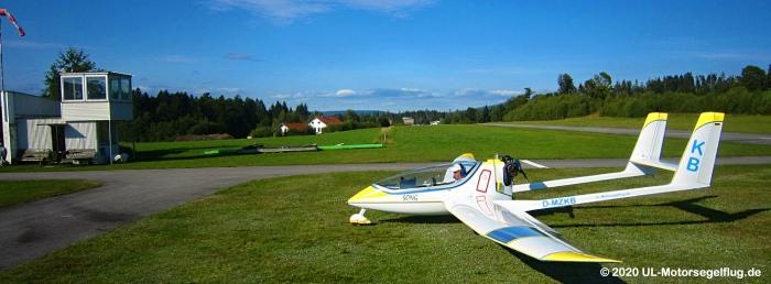 Flugplatz Sonnen im südlichen Bayrischen Wald, zweithöchster Flugplatz in Deutschland